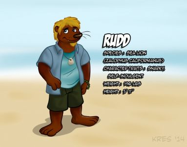 Rudd the Sea Lion, artwork by Kresblain