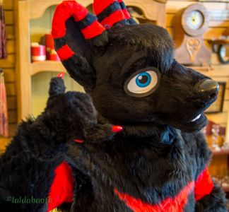 Fursuiter making an expression
