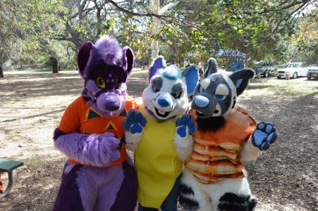 3 mischievous fursuiters Photo courtesy Pony Quest