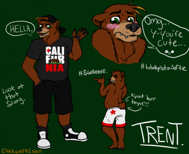 Trent the Grizzly Bear, artwork by Clockwork Coon
