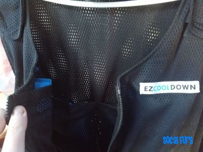 Closeup of the Cooling Vest that was found at SoCal Furs' annual FurBQ