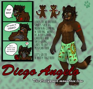 Diego the Mountain Lion, artwork by Read the Wind