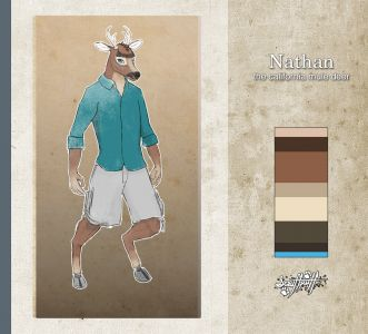 Nathan the Mule Deer, artwork by Scruff Puff