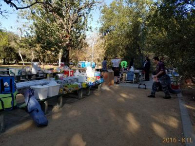 Morning breakfast and setup of picnic tables at SoCal Furs FurBQ