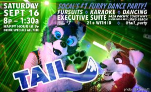 Poster for September 2017's TAIL! Event Saturday