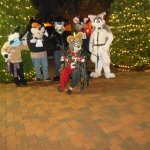 Anpu and other furries gather at downtown Riverside for Xmas tree lighting