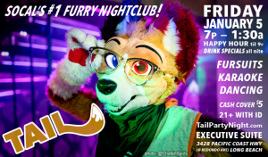Poster for January 2018's TAIL! Event Friday