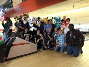 Group photo of attendees to the June 2018 meet at Golden Mile Bowling Alley.