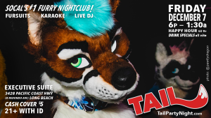 Poster for the Friday December 7th 2018 TAIL! Event