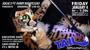 Poster for the Friday January 4th, 2019 TAIL! Event