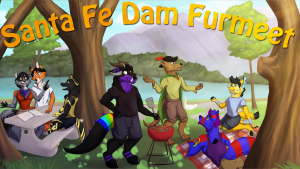 Poster image for The Santa Fe FurMeet in 2019.