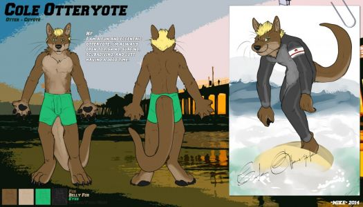 Cole the Otteryote, artwork by Dot Dawg Mike