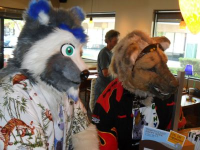 Coony and G-Hyena at Starbucks