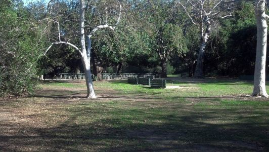 Landscape photo showing Group Area 3 inside Irvine Regional Park