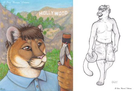 AuroraWolf's submission to the contest of a cougar character