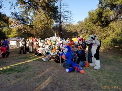 Another candid photo of the fursuit group photo