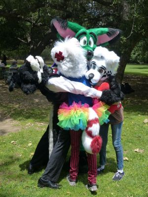 Fursuit Group Hug