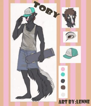 Toby the Skunk, artwork by Lenne