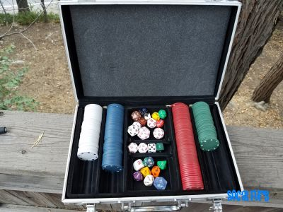 Scuffed Poker Chip Case when open. Found at SoCal Furs' FurBQ 2017
