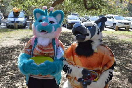 Two fursuiters at Ani-Mato's Halloween photo courtesy PonyQuest